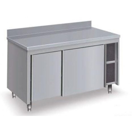 Table inox - Armoire porte coulissante