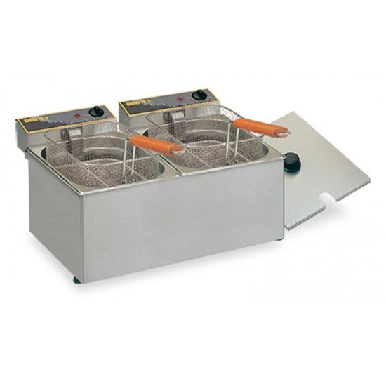 Friteuse double bac 8+8 Litres